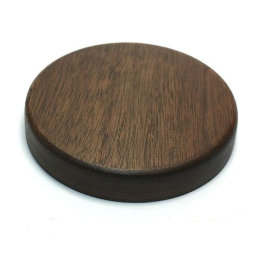 115mm Diameter Re-cycled Sapele Pattress or Display Plinth Stained and Waxed